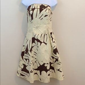 B. Darlin Strapless Knee Length Floral Print Dress